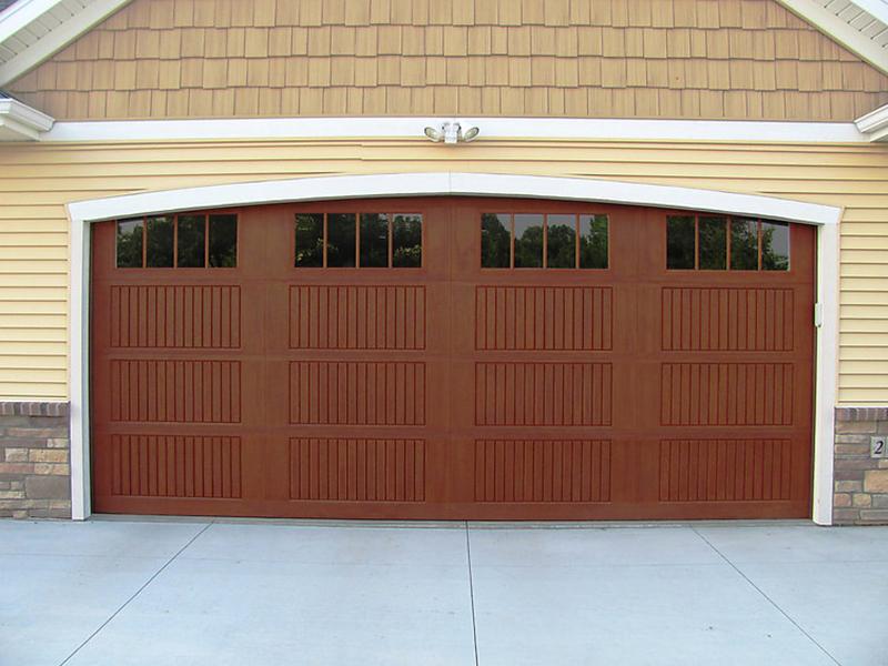 Impression collection doors for Wood grain garage doors
