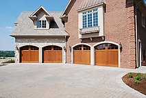 Exceptional Stained Custom Wood Garage Doors
