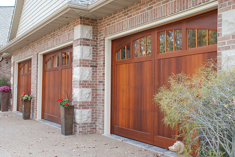 Signature carriage collection stained for Stained garage doors