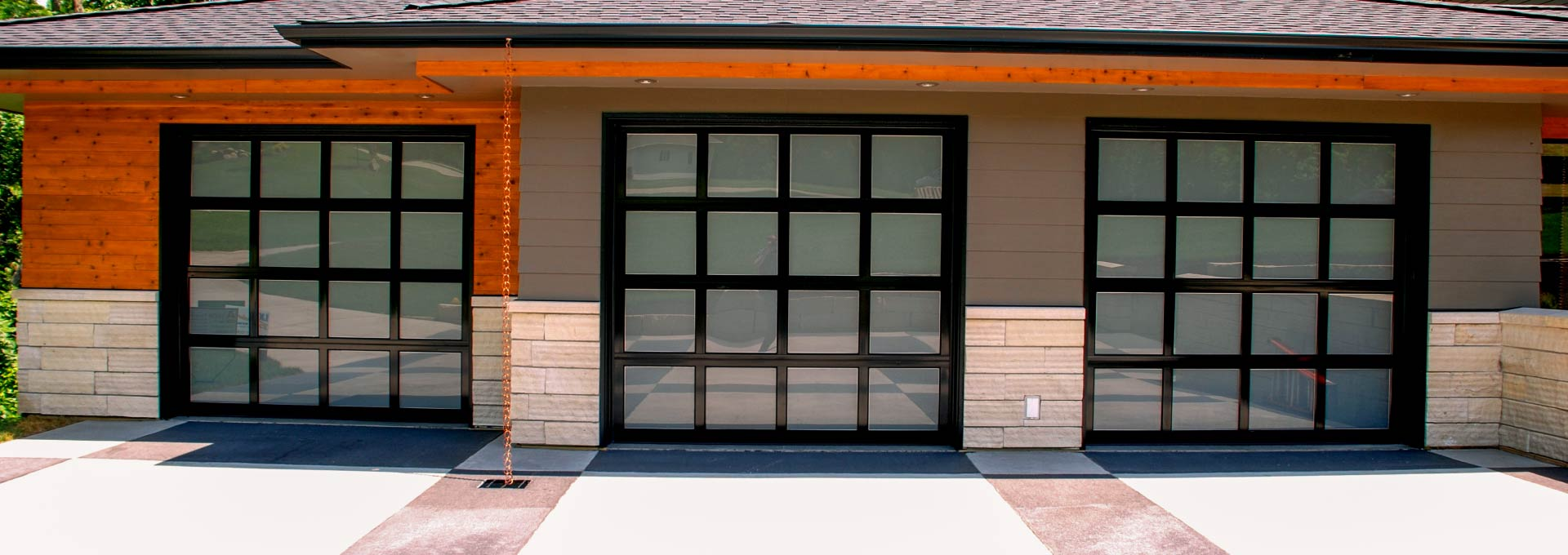 Aluminum/Glass Garage Doors