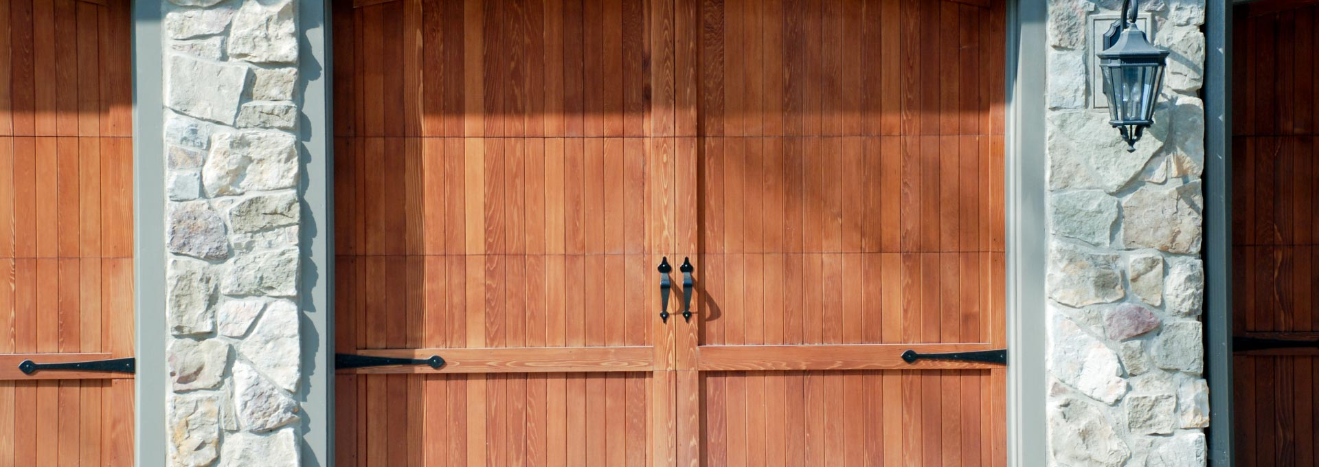 A beautiful, Amish crafted wood door