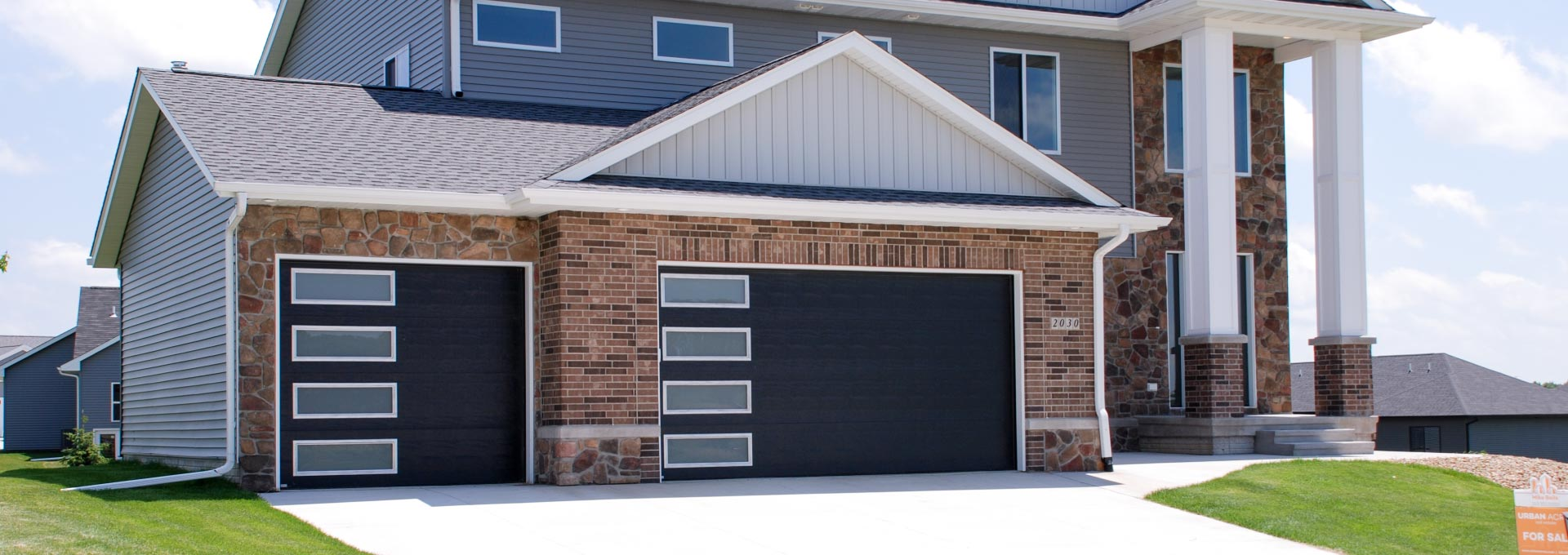 Premium insulated steel garage doors.